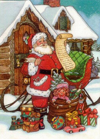 Father Christmas a Christmas Symbol at Santa's Net.